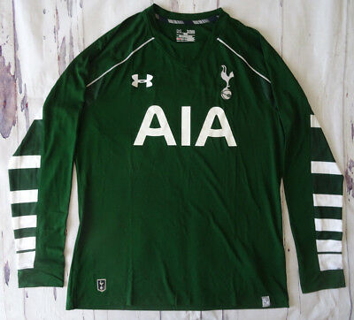NEW Under Armour Tottenham Hotspur Home Goalkeeper Green Shirt 2015-2016 XL 32fe3cead1952