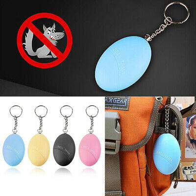 SAFE SOUND PERSONAL ALARM EGG SELF DEFENSE ATTACK ANTI-RAPE KEYCHAIN 130dB UK