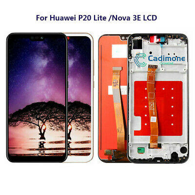 Per Huawei P20 Lite Nova 3E LCD Display Touch Screen Digitizer Frame Assembly RH