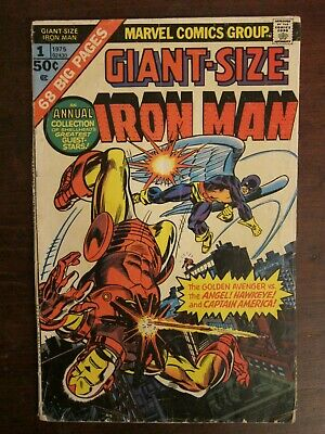 Giant-Size Iron Man #1 - reprints first Hawkeye appearance - Bronze Age - Ditko