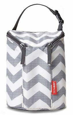 Skip Hop DOUBLE BOTTLE BAG - CHEVRON Baby Insulated Bottle Bag BNIP