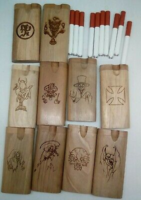 Lot of 10 assorted styles large twist top wood Dugout With one hitter bat pipe 4