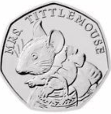 UNC 50p coin 2018 Mrs Tittlemouse Beatrix Potter Fifty Pence from sealed bag