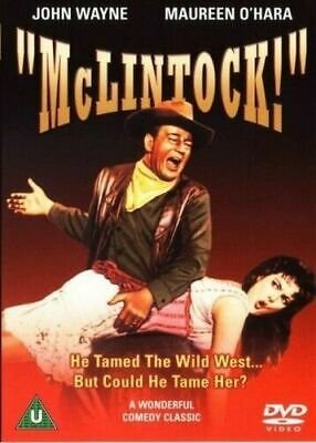 Mclintock DVD John Wayne Maureen O'Hara Andrew Original UK Release New Sealed R2