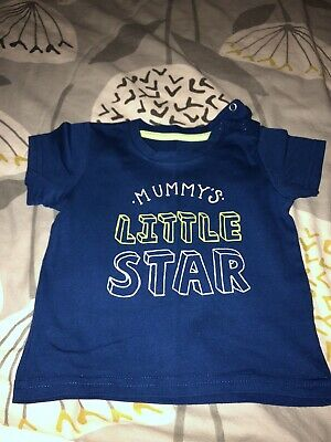 Baby Boys Mummy's Little Star T-shirt Size 6-9 Months
