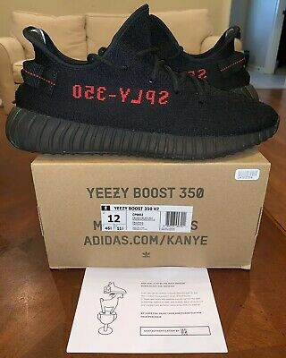 68825a06e06c6c Adidas Yeezy Boost 350 V2 Black Red Bred 12 Kanye West Core Static Pirate  CP9652