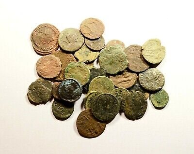 Lot Of 30 Imperial Roman Bronze Coins For Identifying - 17