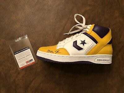 3c105a01317 Magic Johnson Signed Converse Weapon Sneaker Psa dna