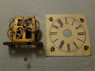 Vintage Clock Movement Parts & Face,  Spares Or Repairs