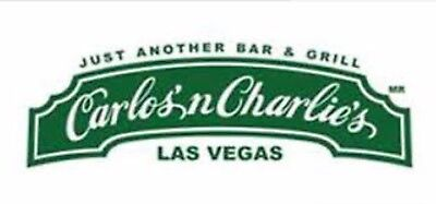 $50 Carlos And Charlies Las Vegas Gift Certificate Restaurant Voucher @ Flamingo