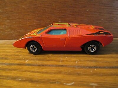 Vintage Matchbox Superfast Lesney Lamborghini Countach Orange Color