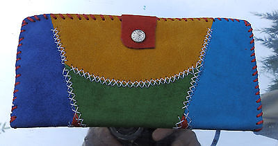 Hand Made Real Suede Large Ladies Purse Arts & Crafts 3