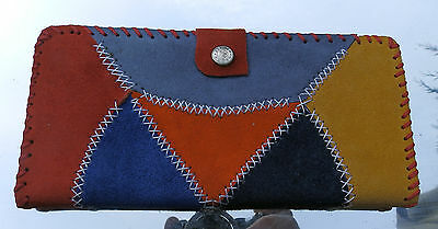 Hand Made Real Suede Large Ladies Purse Arts & Crafts 2