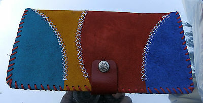 Hand Made Real Suede Large Ladies Purse Arts & Crafts 4