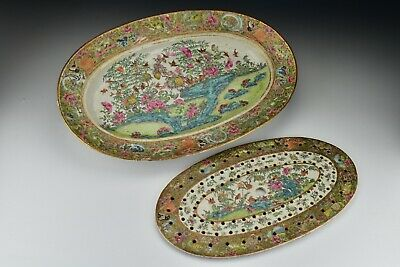 18th Century Chinese Famille Rose Porcelain Straining Fish Platter