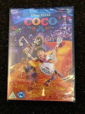 Disney's Coco Dvd - Brand New And Sealed