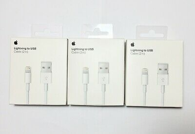 3 Pack Apple iPhone 2M lightning to Usb Cable 6.6 FT OEM