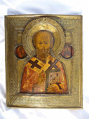 Icona russa antica originale, Ikone, Russian icon, Ikon, Russische Ikone, Icon