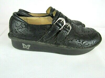 6be03dd5a790 ALEGRIA by PG Lite Alli Pro in Black Embossed Paisley Leather EU Sz 41 US  10.5