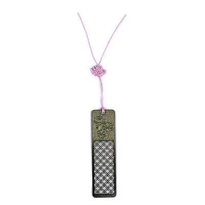 Lotus Hollow Bookmarks Vintage Metal Bookmark Stationery With Chinese knot G