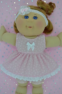 "Play n Wear Doll Clothes For 14"" Cabbage Patch BUTTERFLY DRESS~BLOOMERS~HEADBAND"