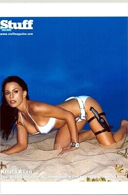 Krista Allen - In A White Bikini - On All Fours - With A Knife !!!!