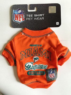 best service 9b71d fbc2a MIAMI DOLPHINS PET Wear T-Shirt Dog Sizes XS or Small Tee Shirt NFL Football