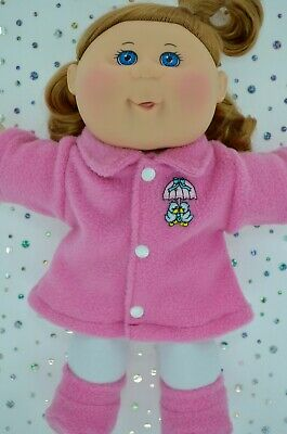 "Play n Wear Doll Clothes For 14"" Cabbage Patch CANDY PINK JACKET~TIGHTS~BOOTIES"