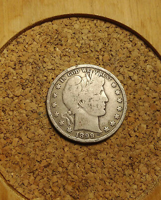 1899 P 50C Barber Half  Circulated  90 % Silver US Coin  BH227 FREE SHIP NOTE