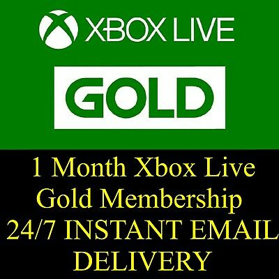 Microsoft 1 Month Xbox Live Gold Membership Subscription | FAST EMAIL DELIVERY