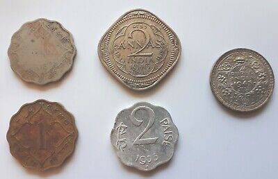 Old coins from India. Mixed selection.
