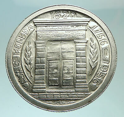 1956 COLOMBIA Popayan Mint 200th ARCHED GATE Silver Columbian Peso Coin i75925