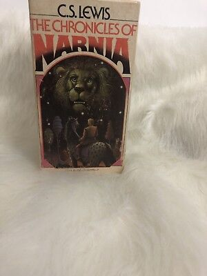 The Chronicles of Narnia 7 Book Vintage Box Set C.S. LEWIS Collier 1st Ed. 1970