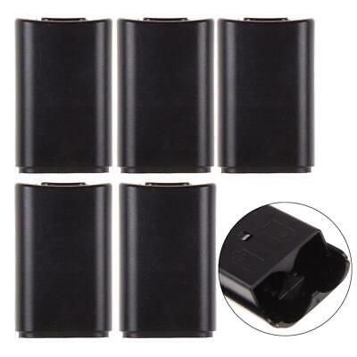 5x Xbox 360 Wireless Controller Black Battery Back Cover Pack Replacement Part