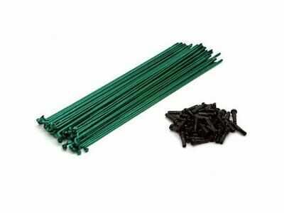 Mutiny BMX Double Butted Spokes 186mm + Nipples - Green Spokes 50pc
