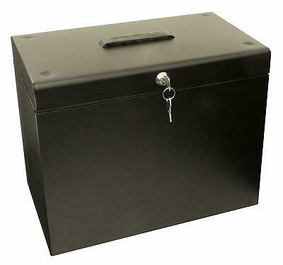 Metal File Storage Box A4 Lockable 5 FREE Suspension Files