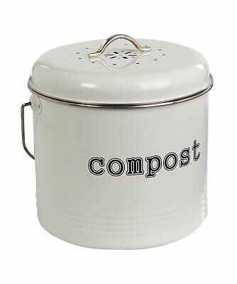 Home Compost Bin Waste Composter Food Garden Recycling Tumbler Scrap Trash 25cm