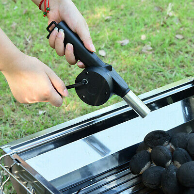 Outdoor Manual Cooking BBQ Fan Air Blower Barbecue Picnic Tool Supply 1Pc