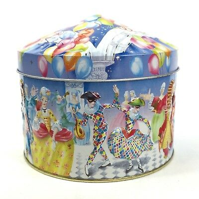 Vintage 90s Churchill's Confectionary Lolly Biscuit Tin Masked Ball England VGUC