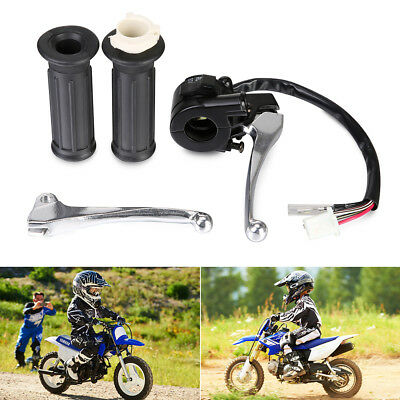 MOTORCYCLE TWIST THROTTLE Hand Grips Left Right Brake Lever