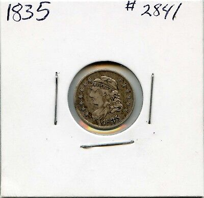 1835 H10C  Capped Bust Silver Half Dime. Circulated. Lot #2636