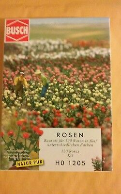 Ho scale Busch Roses Kit # 1205 .