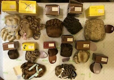 Large Lot of Misc Doll Wigs.  Lot A