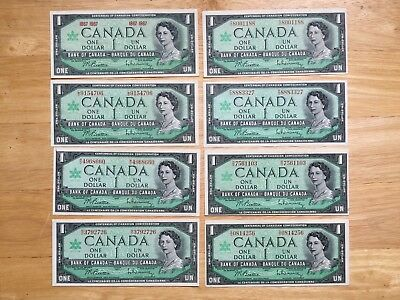 16+2 1967 Canadian bank notes all different prefix VG/AU  USED LOOK at Pictures