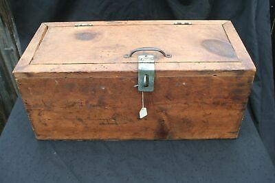 Pine Wood Toolbox  Farmhouse Chic Rustic Antique Vintage