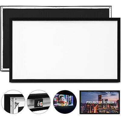 """110"""" 16:9 Fixed Frame Projector Screen HD 4K Home Theatre 3D GREAT WHOLESALE"""