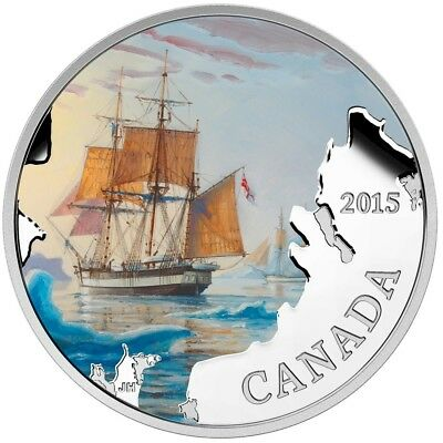 CANADA 2015 $20 Lost Ships in Canadian Waters Franklin's Lost Expedition Box/CoA