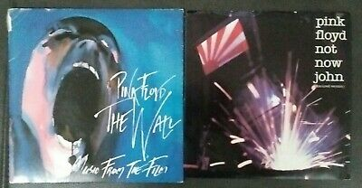 Lot of 2 Pink Floyd Vinyl Records 45s The Wall Not Now John Waters Gilmore 1982