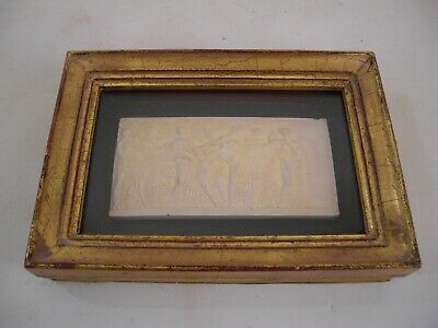 Plaster Intaglio Medallion Tassie Gold Gilt Wood Frame Rome Grand Tour Style