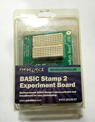 NEW - Parallax Basic Stamp 2 Experiment Board - USB - 555-28188-RT